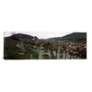 <strong>Panoramic 'Tombstones in a Cemetery, Saxon Church, Biertan, Sibiu C...</strong> by iCanvasArt