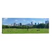 iCanvasArt Panoramic 'Sheep Meadow, Central Park, Manhattan, New York City' Photographic Print on Canvas
