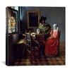 "iCanvas ""The Wine Glass"" Canvas Wall Art by Johannes Vermeer"