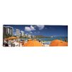 iCanvasArt Panoramic 'Waikiki Beach, Honolulu, Oahu, Hawaii 2010' Photographic Print on Canvas
