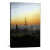 iCanvasArt 'Ships in Greifswald Harbor' by Caspar David Friedrich Painting Printon Canvas
