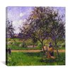 "iCanvasArt ""The Wheelbarrow"" Canvas Wall Art by Camille Pissarro"