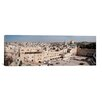 <strong>iCanvasArt</strong> Panoramic 'Wailing Wall, Dome of the Rock, Temple Mount, Jerusalem, Israel' Photographic Print on Canvas