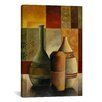 <strong>iCanvasArt</strong> Decorative Art Three Vases by Pablo Esteban Painting Print on Canvas