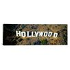 iCanvas Panoramic California, Los Angeles, Aerial View of Hollywood Sign at Hollywood Hills Photographic Print on Canvas