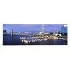 iCanvas Panoramic Florida, Jacksonville, St. Johns River, High Angle View of Marina Riverwalk Photographic Print on Canvas