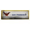 iCanvas Flags San Francisco Golden Gate Bridge Panoramic Graphic Art on Canvas