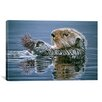 "iCanvas ""Sea Otter with Urchin"" Canvas Wall Art by Ron Parker"