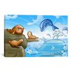 <strong>Kids Children Seals Dolphins and Whale Cartoon Play Room Canvas Wal...</strong> by iCanvasArt
