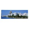 iCanvas Panoramic Florida, Miami, Miami Beach, Panoramic View of Waterfront and Skyline Photographic Print on Canvas