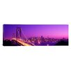 iCanvasArt Panoramic California, San Francisco, Bay Bridge, Night Photographic Print on Canvas