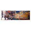 iCanvasArt Panoramic California, San Francisco, Little Italy, Senior Man Standing Outside a Bar Photographic Print on Canvas