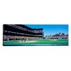 iCanvasArt Panoramic California, San Francisco, SBC Ballpark, Spectator Watching the Baseball Game in the Stadium Photographic Print on Canvas
