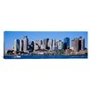 <strong>iCanvasArt</strong> Panoramic Skyline, Cityscape, Boston, Massachusetts Photographic Print on Canvas