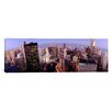 <strong>iCanvasArt</strong> Panoramic Illinois, Chicago, Chicago River, High Angle View of the City Photographic Print on Canvas