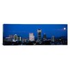 <strong>iCanvasArt</strong> Panoramic Oregon, Portland, Moon, Night Photographic Print on Canvas
