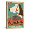 iCanvas 'VAF K9 Krunchies' by Anderson Design Group Vintage Advertisement on Canvas