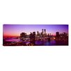 iCanvasArt Panoramic New York City, Brooklyn Bridge, Twilight Photographic Print on Canvas