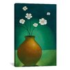 "<strong>iCanvasArt</strong> ""Vase with White Flowers"" Canvas Wall Art by Pablo Esteban"