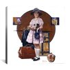 iCanvas 'Vacation's Over (Girl Returning From Summer Trip)' by Norman Rockwell Painting Print on Canvas