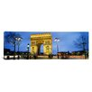 iCanvas Panoramic Arc de Triomphe, Paris, France Photographic Print on Canvas