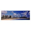 iCanvas Panoramic Waikiki Beach with Mountain in the Background, Honolulu, Hawaii Photographic Print on Canvas