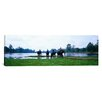 <strong>iCanvasArt</strong> Panoramic 'Siem Reap River and Elephants Angkor Vat Cambodia' Photographic Print on Canvas