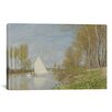 iCanvas 'Voilier Sur Le Petit Bras De La Seine, Argenteuil 1872' by Claude Monet Painting Print on Canvas