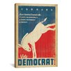 iCanvas 'Vote Democrat' by Anderson Design Group Graphic Art on Canvas