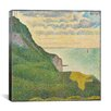 "iCanvas ""Seascape at Port-en-Bessin (Normandy)"" Canvas Wall Art by Georges Seurat"