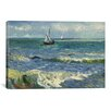 iCanvasArt 'Seascape Near Les Saintes Maries De La Mer' by Vincent Van Gogh Painting Print on Canvas