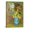 "iCanvas ""Vase with Daisies and Anemones"" by Vincent Van Gogh Canvas Painting Print"