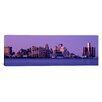 <strong>iCanvasArt</strong> Panoramic 'Michigan, Detroit, Twilight' Photographic Print on Canvas