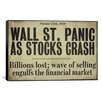 <strong>iCanvasArt</strong> Wallstreet from Color Bakery Canvas Wall Art