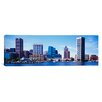 iCanvasArt Panoramic Maryland, Baltimore, Skyscrapers along the Inner Harbor Photographic Print on Canvas
