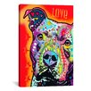 iCanvas 'Thoughtful Pit Bull' by Dean Russo Graphic Art on Canvas