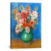 iCanvas 'Vase with Flowers' by Pierre-Auguste Renoir Painting Print on Canvas