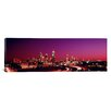 iCanvas Panoramic Georgia, Atlanta, Night Photographic Print on Canvas