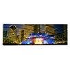 iCanvas Panoramic Illinois, Chicago, Millennium Park, Pritzker Pavilion, Spectators Watching the Show Photographic Print on Canvas