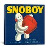 iCanvas Snoboy Apples Vintage Crate Label Canvas Wall Art