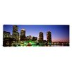 iCanvas Panoramic Skyscrapers at the Waterfront Lit up at Night, Boston, Massachusetts Photographic Print on Canvas