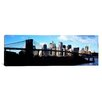iCanvas Panoramic Skyscrapers at the Waterfront, Brooklyn Bridge, East River, Manhattan, New York City, New York State Photographic Print on Canvas
