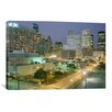 iCanvas Panoramic 'Skyscrapers Lit up at Night, Houston, Texas' Photographic Print on Canvas