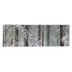 iCanvasArt Panoramic Snow Covered Ponderosa Pine Trees in a Forest, Indian Ford, Oregon Photographic Print on Canvas