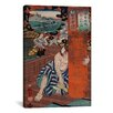iCanvas Japanese Art 'Station #19 of Kisokaido Road' by Kuniyoshi Painting Print on Canvas