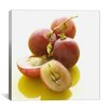 iCanvasArt Sliced Red Grapes Close-up Photographic Canvas Wall Art