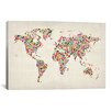 "iCanvas ""Stars World Map"" by Michael Thompsett Graphic Art on Canvas"