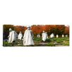 <strong>iCanvasArt</strong> Panoramic Statues of Army Soldiers in a Park, Korean War Memorial, Washington, D.C Photographic Print on Canvas