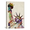iCanvasArt 'Statue of Liberty' by Michael Tompsett Graphic Art on Canvas