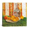 "iCanvas ""Still Life with Bottle and Lemons on a Plate"" Canvas Wall Art by Vincent Van Gogh"